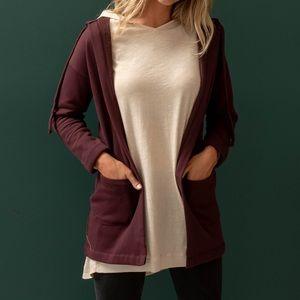 Sweatshirt Cardigan by Agnes & Dora NWT